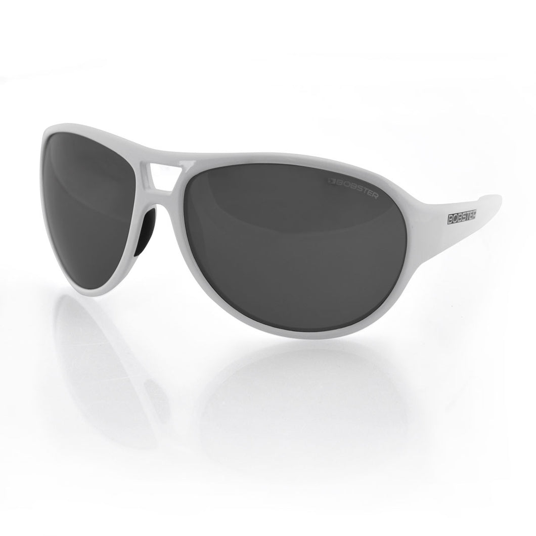 Criminal Biker Sunglasses with White Frame - Edward Coy