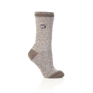 Grabber Heat Holders Ladies Twist Crew Socks - Edward Coy