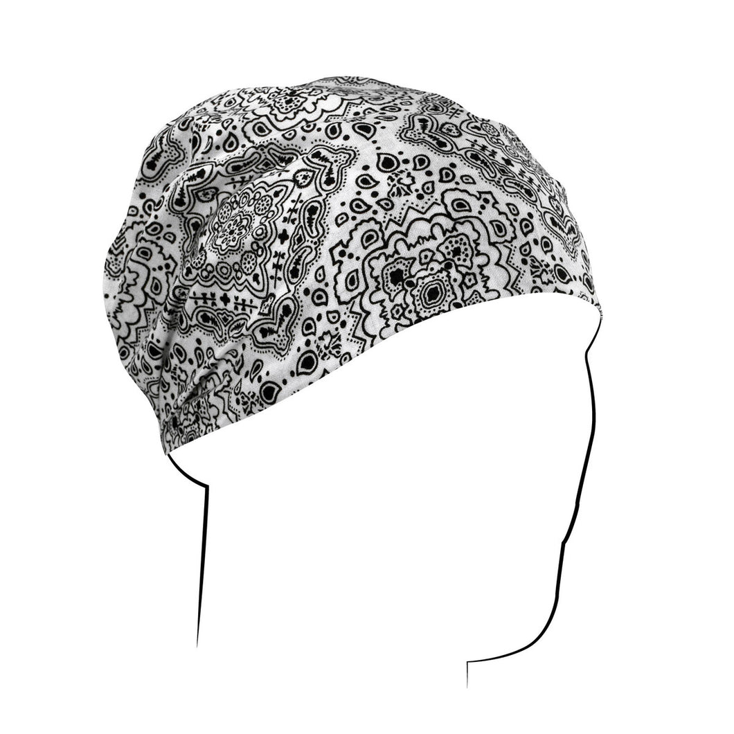White Paisley Headwrap - Edward Coy