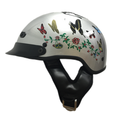 DOT Vented Butterfly Motorcycle Beanie Helmet - Edward Coy