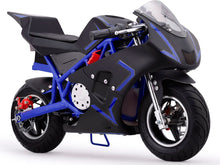 MotoTec Cali 36v Electric Pocket Bike Blue - Edward Coy