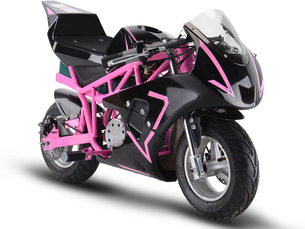 MotoTec 36v 500w Electric Pocket Bike GP Pink - Edward Coy