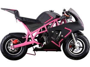 MotoTec Cali Gas Pocket Bike 40cc 4-Stroke Pink - Edward Coy
