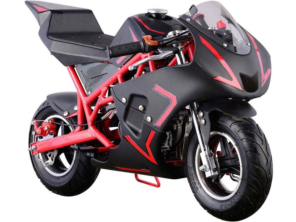 MotoTec Cali Gas Pocket Bike 40cc 4-Stroke Red - Edward Coy