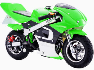 MotoTec GBmoto Gas Pocket Bike 40cc 4-Stroke Green - Edward Coy