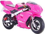 MotoTec GBmoto Gas Pocket Bike 40cc 4-Stroke Pink - Edward Coy