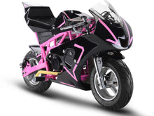 MotoTec Gas Pocket Bike GP 33cc 2-Stroke Pink - Edward Coy