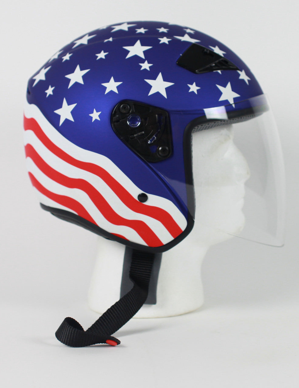 DOT Motorcycle Helmet Open Face with Flip Shield - Edward Coy