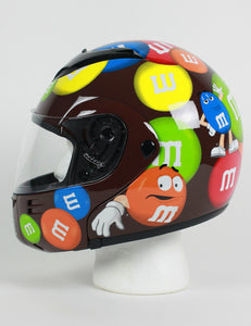 M&M Licensed Full Face Brown Motorcycle Helmet - Edward Coy