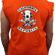 Men's California Republic Sleeveless Denim Shirt - Edward Coy
