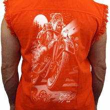 Men's Biker Bulldog Sleeveless Denim Shirt - Edward Coy