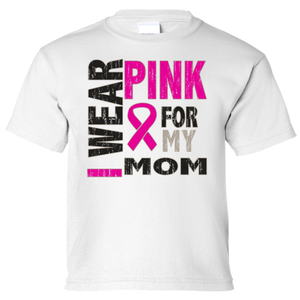 Kids I Wear Pink For My Mom Short Sleeve T-Shirt - Edward Coy