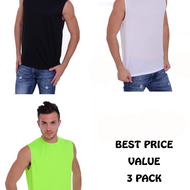 3 Pack Men's Dri Fit Sleeveless Shirt - Edward Coy