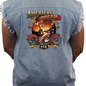 Men's American Dream Sleeveless Denim Shirt