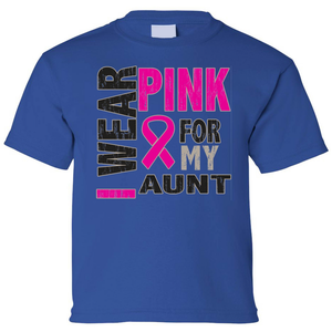 Kids I Wear Pink For My Aunt Short Sleeve T-Shirt - Edward Coy