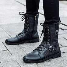 Tangnest Motorcycle High Top Lace-up with Buckle Boots - Edward Coy
