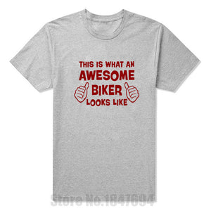 """This is what an awesome Biker looks like"" T Shirt - Edward Coy"