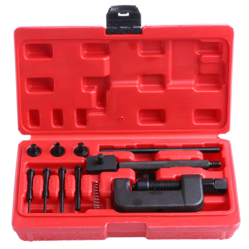 Motorcycle Professional Chain Splitter Breaker Link Rivet Riveter Tool Set - Edward Coy
