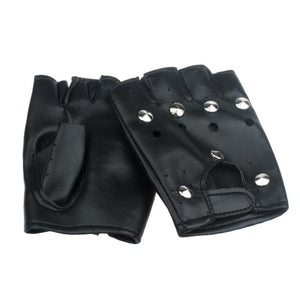 JECKSION men Half-finger Leather Gloves - Edward Coy