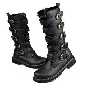 Tangnest Men's Combat Metal Buckle Boots - Edward Coy