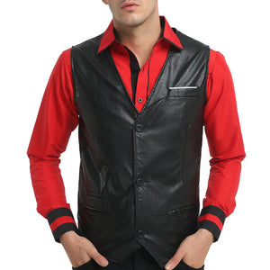 MarKyi Men's leather vest