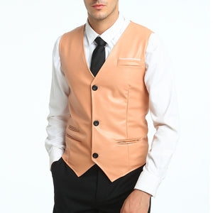 MarKyi Men's leather vest - Edward Coy