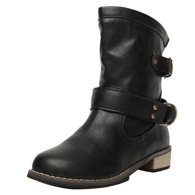 women vintage motorcycle boots - Edward Coy