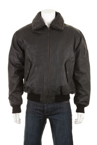 Leather Aviator Jacket - Edward Coy