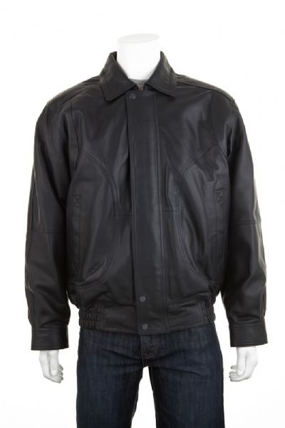 Leather Blouson Jacket - Edward Coy