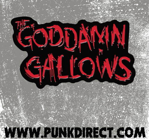 GodDamn Gallows- Red enamel pin
