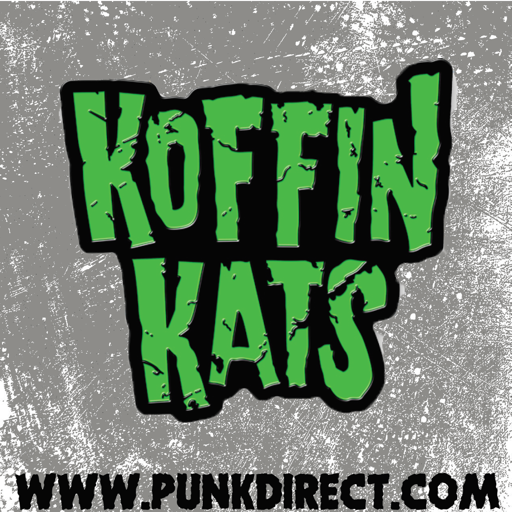 Koffin Kats- Green Enamel Pin