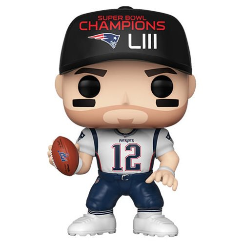Funko Pop NFL: Patriots - Tom Brady Gorra Super Bowl