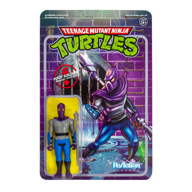 Super 7 Reaction: TMNT Tortugas Ninja - Soldado Clan del Pie