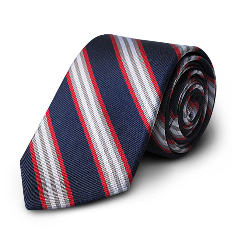 Navy Multi Stripe Rep Tie
