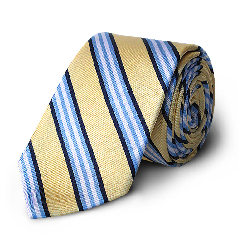Yellow Multi Stripe Rep Tie