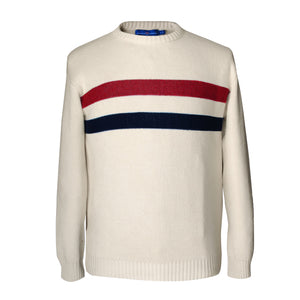 Varsity Stripe Crewneck Sweater