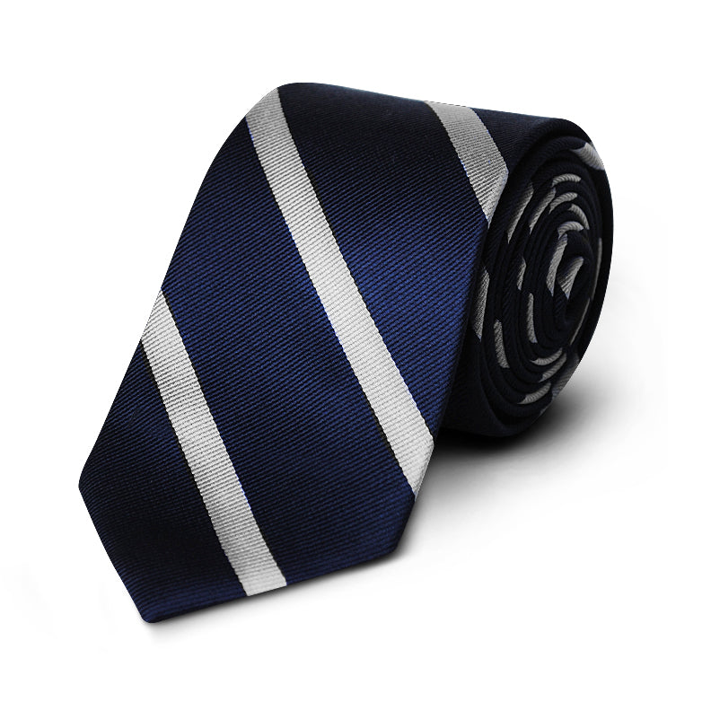 White Stripe Rep Tie