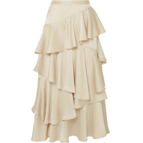 Long Tiered Ruffle Skirt