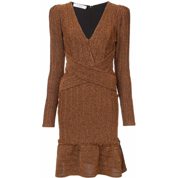 Lurex Mini Dress Copper