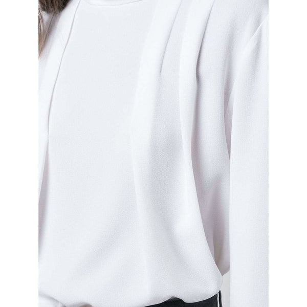 Savannah Crepe Pleated Top