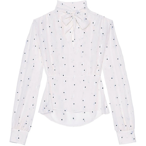 Pussy Bow Blouse Ivory