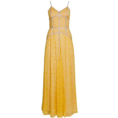 Aurora Caged Maxi Dress Sunflower
