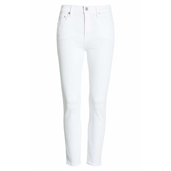 Rocket Crop Mid Rise Skinny White Sculpt