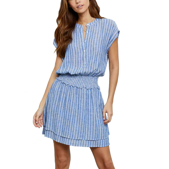 Angelina Dress Cascade Stripe
