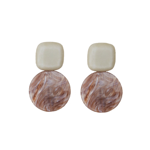 Arc Earring Ivory Pink Pearl