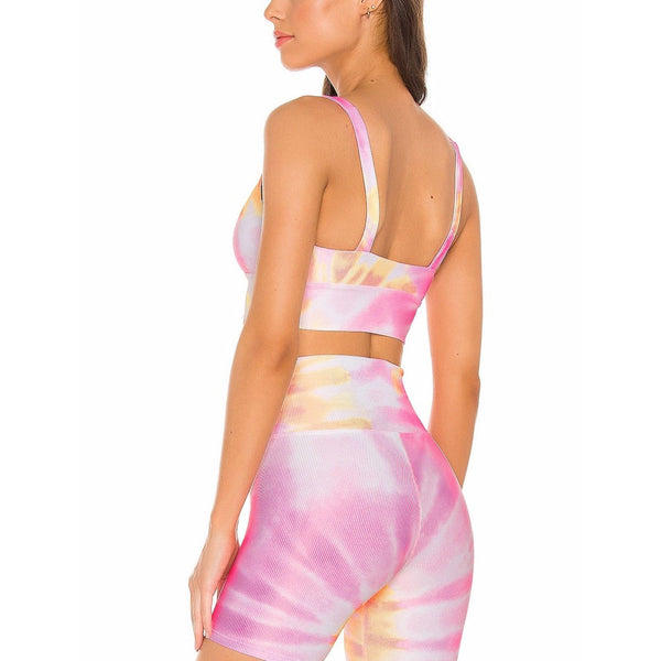 Leah Top Pink/Orange Tie Dye