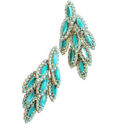 Britt Earrings - Crystal