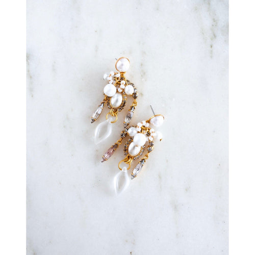 Dannita Earrings - Pearl