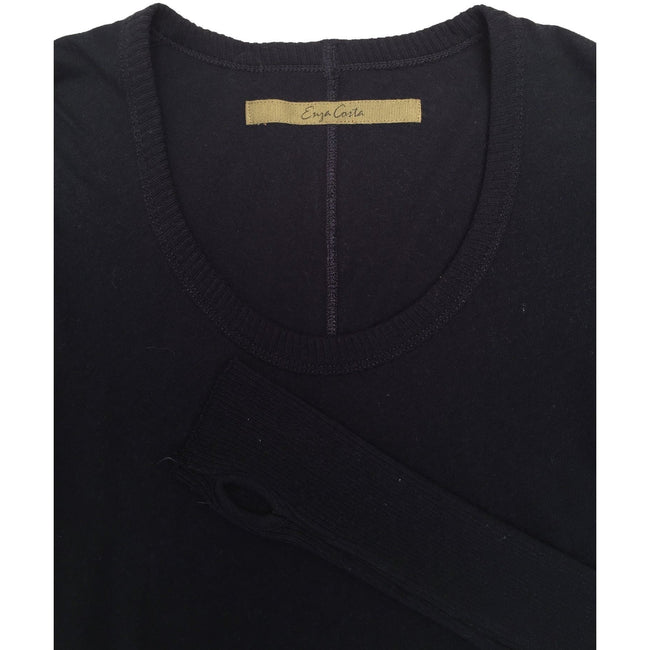 Cashmere Fitted Scoop Tee