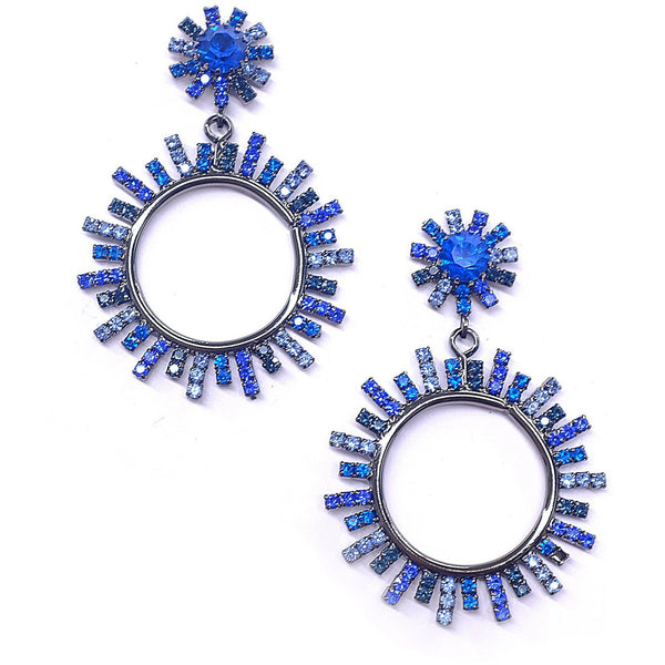 Everly Starburst Earrings Blue